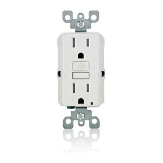 Leviton 7599KW Electrical Outlet, Commercial Grade SmartLock Pro Duplex Receptacle, 15A White