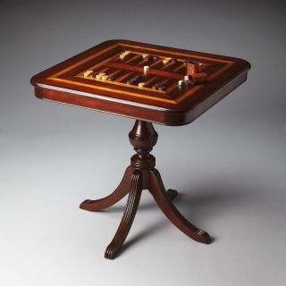Butler Plantation Cherry Collection Wood Pedestal Game Table Multicolor