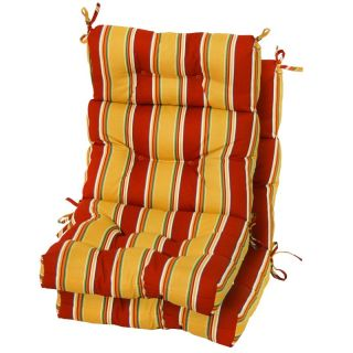 Greendale Home Fashions Outdoor High Back Chair Cushions Set of 2 Kinnabari
