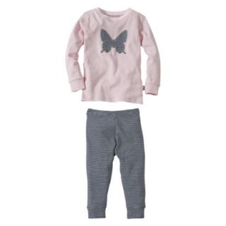 Burts Bees Baby Infant Toddler Girls 2 Piece Long Sleeve Butterfly Pajama Set