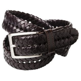 Merona Mens Braided Leather Belt   Brown   XL