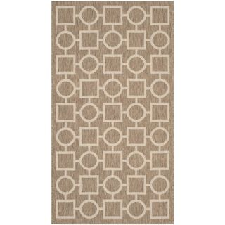 Safavieh Indoor/ Outdoor Courtyard Brown/ Bone Polypropylene Rug (27 X 5)