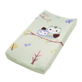 Summer Infant Who Loves You Owl Plush Pals Changing Pad Cover, Sage