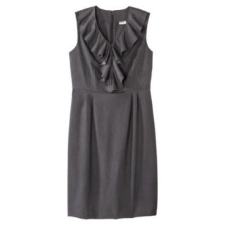 Merona Petites Sleeveless Sheath Dress   Gray 10P
