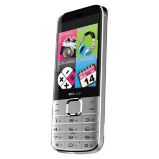 Blu Diva X T372T Unlocked Cell Phone for GSM Compatible   Silver