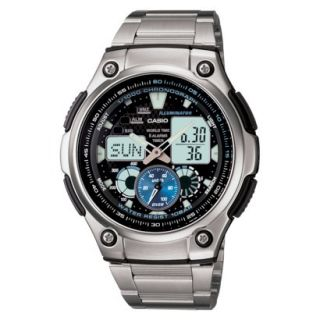 Casio Mens Multi Task Gear Sports Watch with Stainless Steel Bracelet   Silver