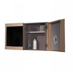 Whitehaus WHAEMN02 Aeri Double Door Medicine Cabinet with Two Shelves & Mirror