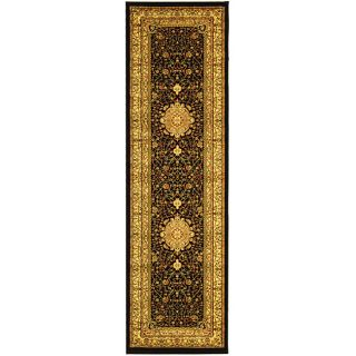Lyndhurst Collection Mashad Black/ Ivory Runner (23 X 20)