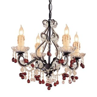 Crystorama Paris Flea Market Mini Chandelier   14W in. Dark Rust Multicolor