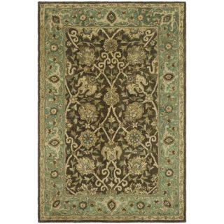 Safavieh Antiquities Brown/Green Rug AT21G Rug Size 4 x 6