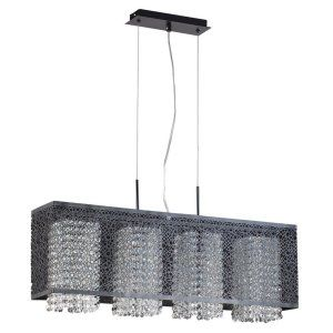 PLC Lighting PLC 73058 BLACK Virginia 4 Light Pendant Virginia Collection