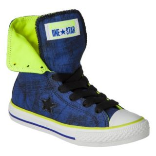 Boys Converse One Star High Top Sneaker   Navy 1.5