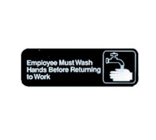 Tablecraft 3 x 9 in Sign, Employees Must Wash Hands Before Returning To Work