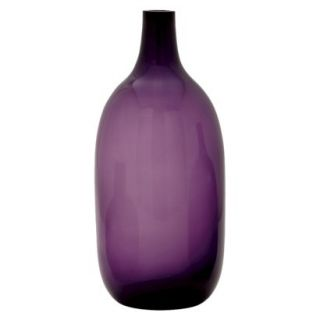 Bolo Glass Vase   Purple 14.5 by Torre & Tagus