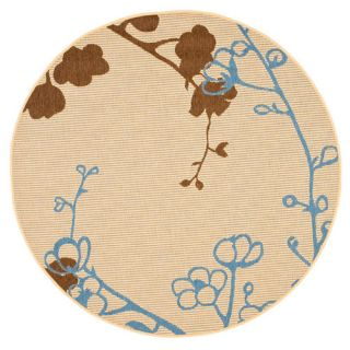 Safavieh Courtyard Natural Brown/Blue Rug CY4038B Rug Size Round 67
