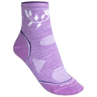 SmartWool 2013 PhD Outdoor Ultralight Mini Socks   Merino Wool  Quarter Crew (For Women)   LIGHT GREY (S )
