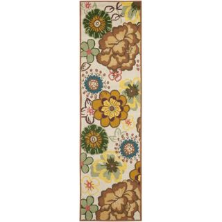 Safavieh Four Seasons Ivory / Brown Rug FRS467A Rug Size Runner 23 x 8