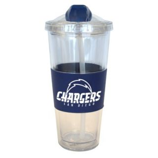 Boelter Brands NFL 2 Pack San Diego Chargers No Spill Tumbler with Straw   22 oz