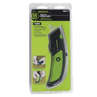 Greenlee 065211 Heavy Duty Utility Knife with Replacement Blades 3 Blades