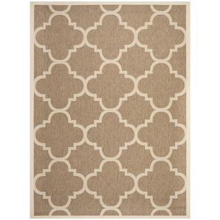 Safavieh Indoor/ Outdoor Courtyard Brown Rug (9 X 12)