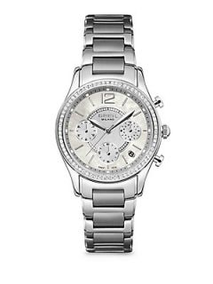 Breil Stainless Steel Sparkle Framed Chronograph Bracelet Watch   Silver
