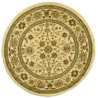 Lyndhurst Collection Majestic Ivory/ Ivory Rug (8 Round)