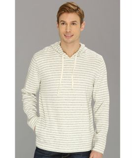 Lucky Brand Double Knit Stripe Hoodie Mens Sweatshirt (Black)