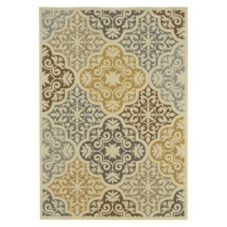 Kelsey Medallion Indoor/Outdoor Area Rug (67x96)