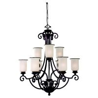 Sea Gull Lighting SEA 31147BLE 814 Acadia ENERGY STAR Nine Light Acadia Two Tier