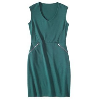 Mossimo Womens Ponte Sleeveless Dress w/ Zippered Pockets   Seaside Teal L