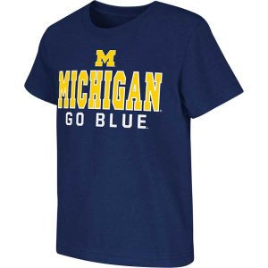Michigan Wolverines Colosseum NCAA Kids Platform T Shirt