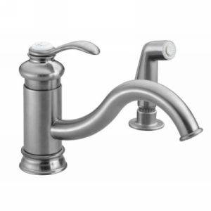 Kohler K 12176 G Fairfax Single Handle Kitchen Faucet with Side Spray