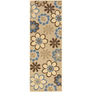 Safavieh Courtyard Natural Brown/Blue Rug CY4035B Rug Size Runner 24 x 67