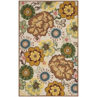 Safavieh Indoor/ Outdoor Four Seasons Ivory/ Brown Rug (36 X 56)