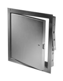 Acudor FB5060 8 x 8 RCSS NonInsulated Fire Rated Stainless Steel Access Panel 8 x 8 with Rim Cylinder Lock
