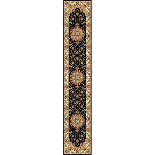 Lyndhurst Collection Traditional Black/ Ivory Runner (23 X 14) (BlackPattern OrientalMeasures 0.375 inch thickTip We recommend the use of a non skid pad to keep the rug in place on smooth surfaces.All rug sizes are approximate. Due to the difference of
