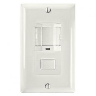 Intermatic IOSDPBIMFWH Motion Sensor, Energy Efficient PIR Magnetic Occupancy Sensor Switch White