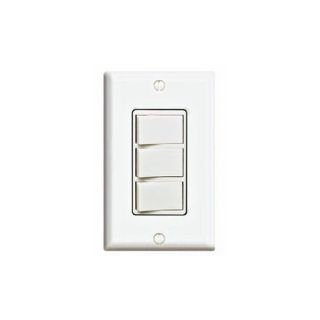 Leviton 1755W Light Switch, Decora Three Rocker Combo Switch, Commercial Grade, SinglePole White