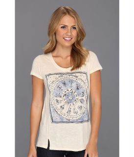 Lucky Brand Astrology Tee Womens T Shirt (White)