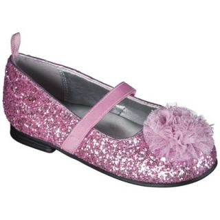 Toddler Girls Genuine Kids from OshKosh Glitter Ballet Flats   Pink 11