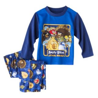 Angry Birds Toddler Boys 2 Piece Long Sleeve Pajama Set   Blue 3T