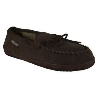 Mens Muk Luks Berber Suede Moccasin Slipper  Brown 9