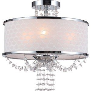 Crystorama Lighting CRY 9804 CH CEILING Allure Allure 6 Light Chrome Semi Flush