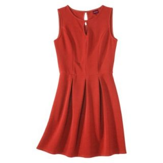 Merona Womens Textured Sleeveless Keyhole Neck Dress   Hot Orange   S