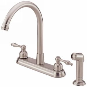Danze D422055SS Sheridan  Two Handle Kitchen Faucet With Side Spray