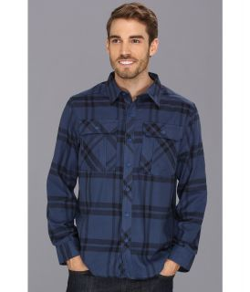 Mountain Hardwear Trekkin Flannel L/S Shirt Mens Long Sleeve Button Up (Blue)