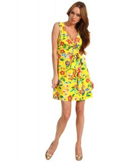 Kate Spade New York Petal Floral Cathleen Dress Womens Dress (Yellow)