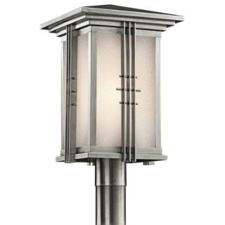 Kichler 49163SS Outdoor Light, Arts and Crafts/Mission Post Mount 1 Light Fixture Stainless Steel
