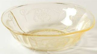 Indiana Glass Lorain Yellow Cereal Bowl   Yellow, Basket,Depression Glass