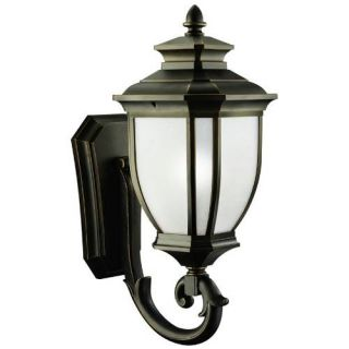 Kichler 9043RZ Outdoor Light, Transitional Wall Mount 1 Light Fixture Rubbed Bronze